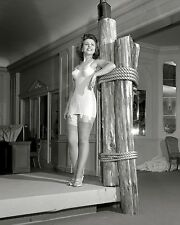 1942 PHOTO OF A GIRL MODELING A CORSELET AT FASHION SHOW - 8X10 PHOTO (CC-165)