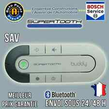 Kits mains libres Bluetooth voiture Supertooth Buddy Gris + Chargeur Voiture