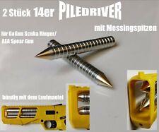 2 x filettatura-FUCILI ARBALETE//Bulloni//frecce per gogun Scuba Ringer//AEA Spear GUN GIALLO