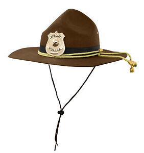 Adult Super State Trooper Highway Patrol Mountie Sheriff Park Ranger Costume Hat