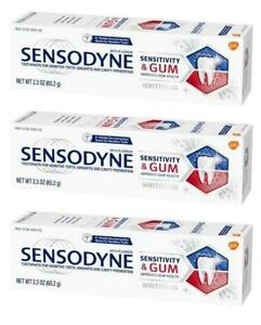Sensodyne Sensitivity & Gum Whitening Toothpaste 2.3 oz 65.2 g (LOT OF 3)