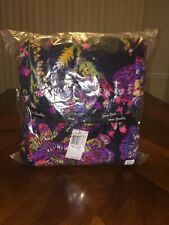 Nwt Vera Bradley Throw Blanket In Midnight Wildflowers