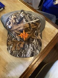 NOMAD HAT CAMO TRUCKER CAP, BALL CAP, REALTREE EDGE, one size fits most.