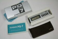 Boxed Vintage Casio PQ-7 Alarm / Clock / Stopwatch Made in Japan w/ 1979 Receipt