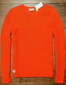 Lacoste AH5441 $225 Men's Sailing Club Waffle Knit Crew Neck Cotton Sweater XL 6