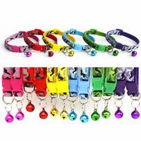 1~6pcs Adjustable Pet Bow Tie With Bell Necktie Collar For Cat Kitten Puppy Dog