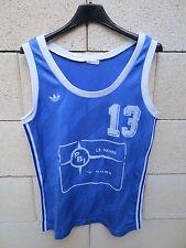 VINTAGE Maillot basket ADIDAS porté 13 PBI Le Havre shirt trikot Ventex 44 femme