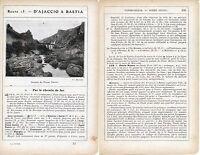 Corse Ponte-Leccia Omessa Ponte Nuovo 1912 photo +guide (6 p) Barchetta Biguglia