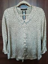 Zara Basic Silky Blouse Top - Sz M