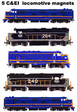 Chicago & Eastern Illinois Locomotives 5 magnets by Andy Fletcher