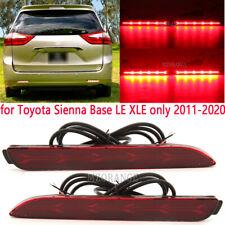 Pair LED Brake Light Rear Bumper Reflector Driving Lamp for Toyota Sienna Venza