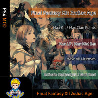 Final Fantasy XII: The Zodiac Age (PS4 Mod)- Max Gil/Clan Points/LP/Mist Bar