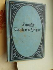 J.C. Lavater: Worte des Herzens (Hufeland) Reclam UB gebunden um 1900