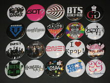 KPOP K-Pop Band Buttons /  Pins 20