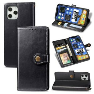 Leather Case for iPhone 7 8 11 12 Pro Max Mini SE 2020 Wallet Shockproof
