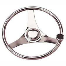 "Steering Wheel With Maneuvering/Turning Integral Knob 15"" Stainless Steel"