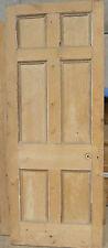"Unusual Large Victorian Pine Door 6mm Oak Faced On One Side 7' x 32&3/4"""