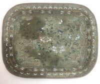 Vintage Antique Chinese Japanese Oriental Cloisonné Tray Decorated Birds Flowers
