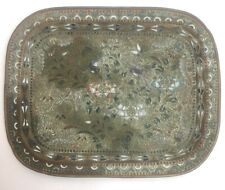 More details for vintage antique chinese japanese oriental cloisonné tray decorated birds flowers