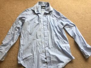 Jasper Conran at Debenhams mens blue cotton blend shirt size 16.5