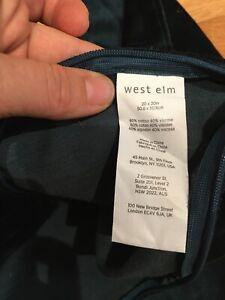 """West Elm """"Emerald Green Velvet""""  20"""" Pillow Cover- Better In Person!!!!"""