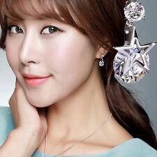 Crystal Rhinestone Dangle Ear Stud Earrings 1 Pair Elegant Women Lady Elegant