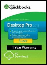 QuickBooks pro 2018 Desktop 3 Users ✅ Lifetime Activation ✅ 70% OFF