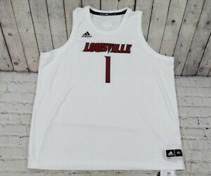 Adidas Louisville Cardinals Basketball Swingman Jersey #1 White MENS SIZE 3XL