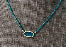 New KENDRA SCOTT Elisa beaded necklace Blue/ Gold