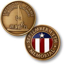 Freedoms Flame September 11 Memorial  bronze and enamel medallion