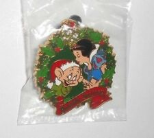 DISNEY PARKS PIN TRADING 2012 YULETIDE FANTASY CHRISTMAS SNOW WHITE & DOPEY
