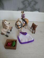 Lot chevaux poneys accessoires Schleich