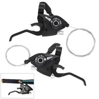 1Pair Aluminium Alloy 21 Speed Ride MTB Bicycle Left Right Shifter Brake Lever