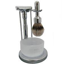 Merkur Futur Shaving Set - Shiny Chrome (751-Shiny-4pc)