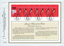 FEUILLET CEF / DOCUMENT PHILATELIQUE / JOURNEE DU TIMBRE 1993 BANDE CARNET PARIS