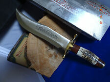 """16 1/4"""" OLE SMOKY CUTLERY BOWIE KNIFE STAG HANDLE 11 1/4"""" 440A BLADE EDGE"""