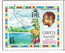 Grenada Nature Fruits Bananas Cofee stamp 1969