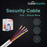 500FT Security / Fire Wire Alarm Burglar 22/4 AWG Cable Stranded White Cable