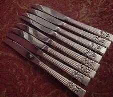 "Coronation Community Oneida silverplate flatware  8 dinner knives 9"" Modern"