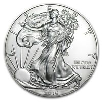 (LOT OF 100) 1 OUNCE 2016 SILVER AMERICAN EAGLE S .999 1oz.