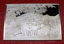 """Currier & Ives """" Haying Time Ingot """" 2.75 oz .999 Silver by Franklin Mint"""