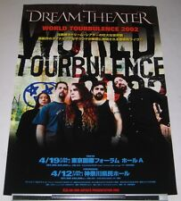DREAM THEATER rare JAPAN PROMO ONLY 2002 tour POSTER more DT listed TOURBULENCE