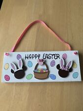 Disney Inspired Mickey And Minnie Mouse Happy Easter  Sign