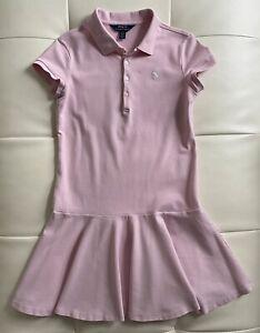 Polo Ralph Lauren Girls Dress Collar Pink Size L 12-14 School