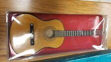 miniature wood guitar 9 1/2 in. long for display