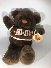 "Vintage 1987 Mars M&M's 16"" Teddy Bear Chocolate Chum Brown Stuffed Plush tags"