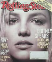BRITNEY SPEARS February 2008 ROLLING STONE Magazine HEATH LEDGER / SHERYL CROW