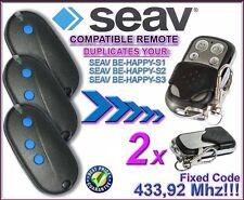 SEAV BE HAPPY S1, BE HAPPY S2, HAPPY S3 compatible remote controls, CLONES 2pc's