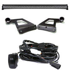 "300W Flood Straight 52"" Inch LED Light Bar + Mount Bracket & Switch Kit for Ford"