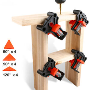 4X 60° 90° 120° Right Angle Clamps Corner Clamp Tools For Carpenter Wood-working